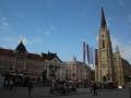 Novi Sad market and cathedral