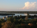View from Belgrade fortress near sunset