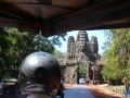About to pass through the entrance of Angkor Thom