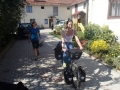 Sanja successfully giving the touring bike a spin