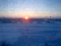 Sun rise from the train
