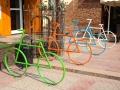 Bike stands at Sierra