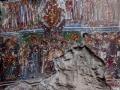 Vandalised fresco at Sumela Monastery