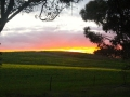First sunset on the road to Sydney