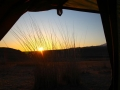 Wild camping sunset