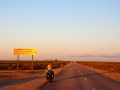 Nullarbor roadhouse coming into sight