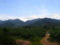 Laos is over those hills