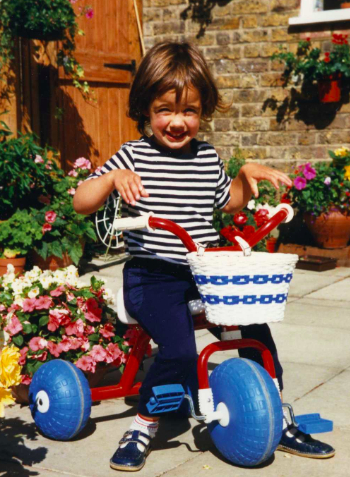 Katie with bike