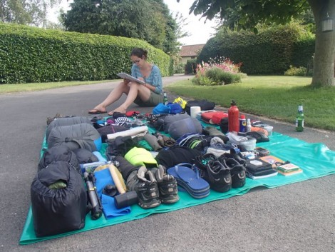 Initial kit that we left Britain with. Some of it has been jettisoned, some of it has proved to be very useful!