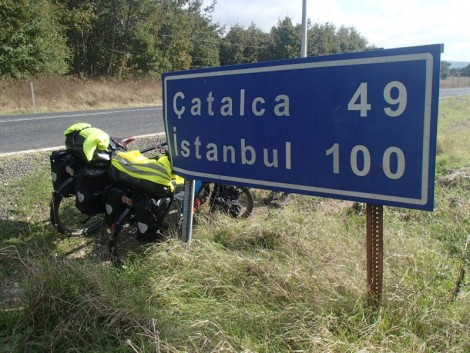 The signs for Istanbul are every 10km on the road we took. It was a slow painful reminder that although we were close, we were never quite there