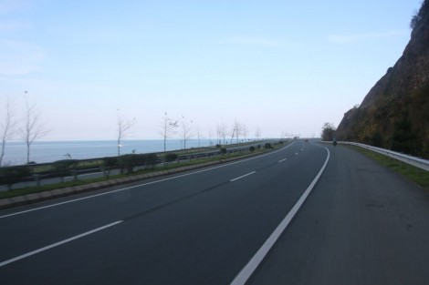 Typical day for us on the Black Sea of Turkey. The roads are absolutely fantastic!