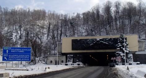 Entrance to Rikoti tunnel