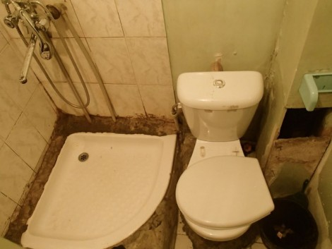 Bathroom in Aktau; the photo does not do it justice!