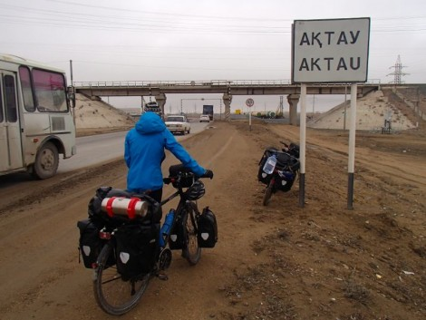 Returning to Aktau, the low point of the journey for us!