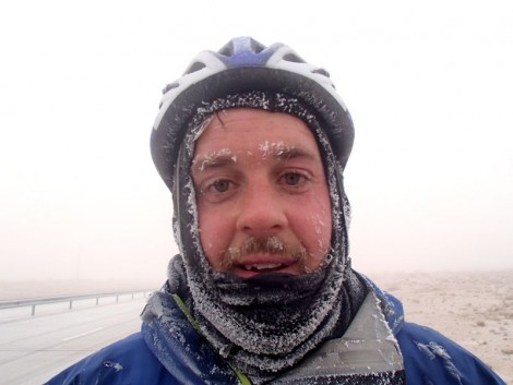 This is what happens when you cycle in very cold temperatures.