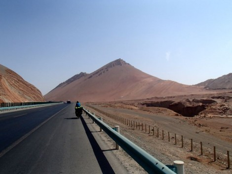 Entering The Flaming Mountains. Epic scenery!