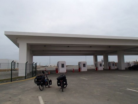 The ferry terminal at Alat (about 70km southish of Baku)