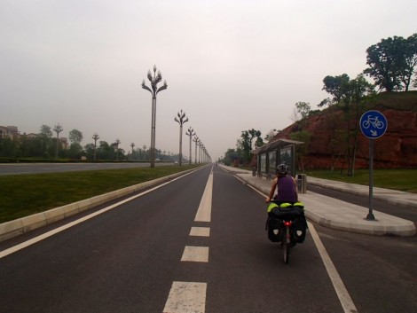New road out of Chengdu.