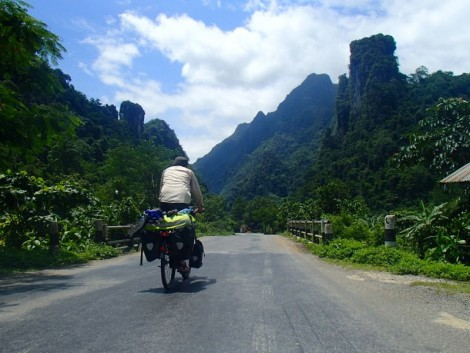 Even after crossing the final pass in northern Laos we were lucky to continue to enjoy epic scenery.