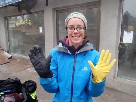 Hand VBLs  Standard dishwashing gloves.