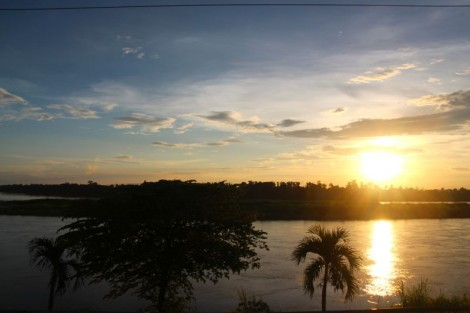Typical evening along the Mekong.