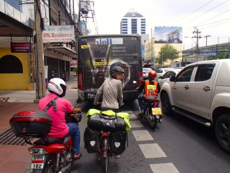 Although the traffic got a lot thicker it never got very angry. We found the drivers to be very aware of us.