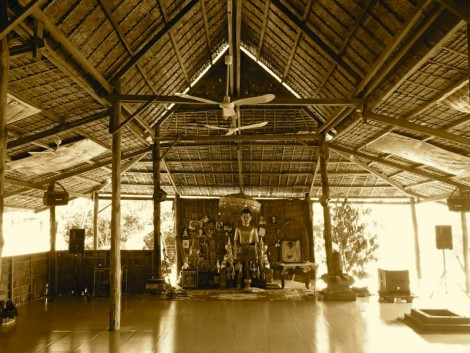 The Hariharalaya yoga hall. We loved this place!