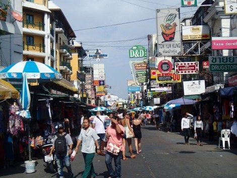 The Khaosan Road. It was tourist trash at its finest.