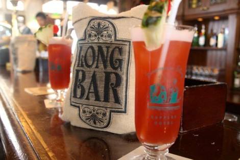 The famous Singapore Sling at the Long Bar.