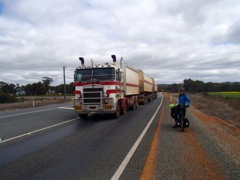 This is the first road train to pass us. We were very excite… this wore off fairly quickly!