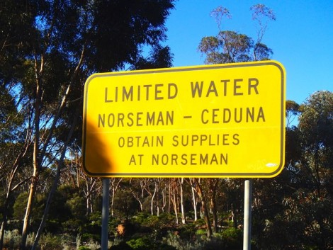 Water warning…. perhaps the locals weren't being over cautious