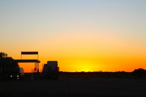 Typical sunset on the Nullarbor