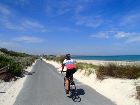 Katie getting amongst the esplanade out towards Glenelg. A truly glorious day.