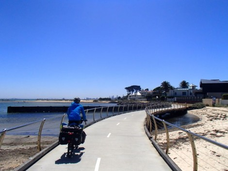 Cycling into Melbourne was an absolute joy. The weather was turning it on and the cycle paths were perfect!