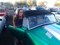 Katie getting a close up inspection of a pretty epic car.