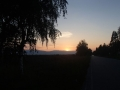 Sun setting behind us